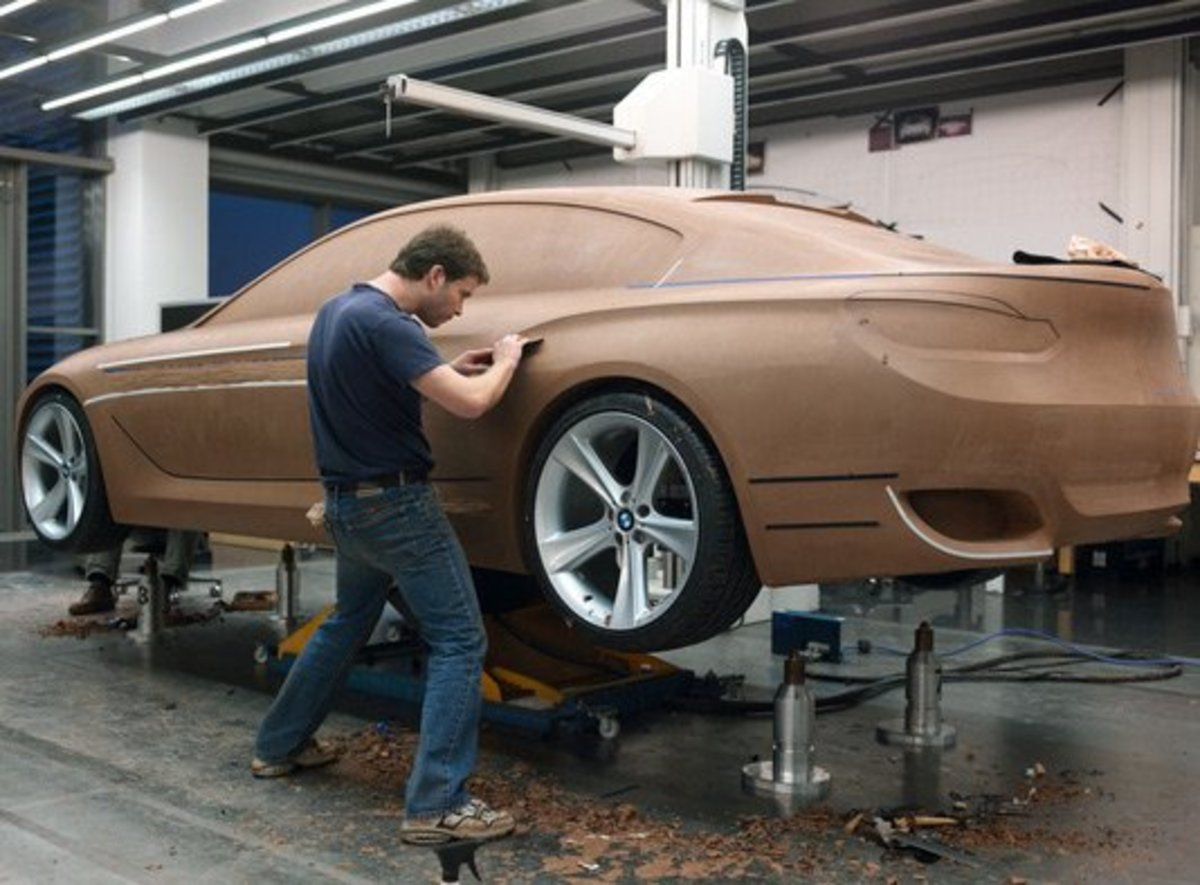 How to make a car model clay modeling in car design