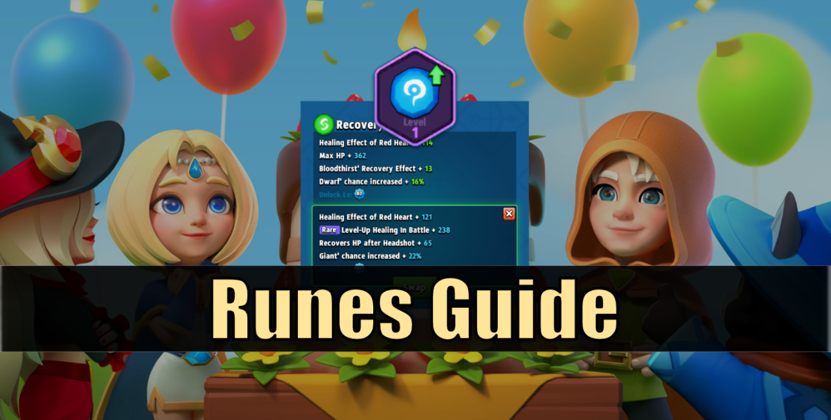 Runes bring an entirely new way to enhance, customize, and strategize your character.