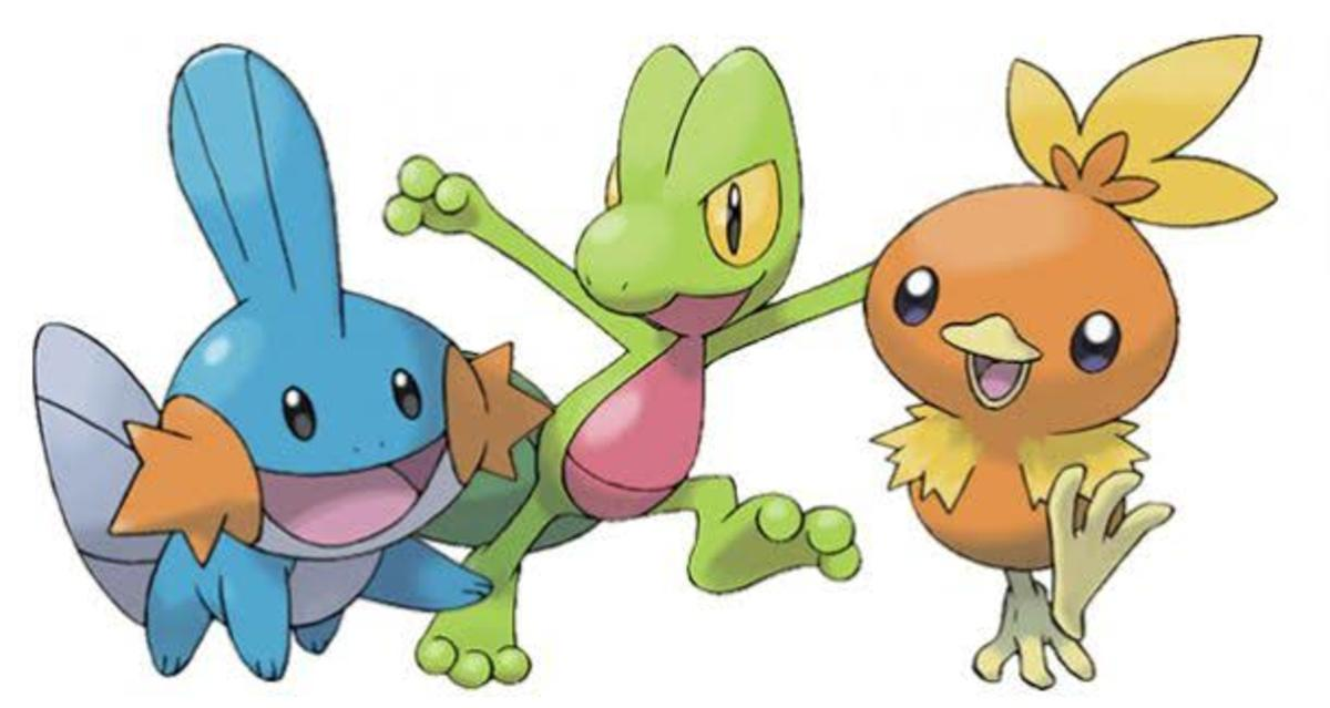 Generation 3 Pokémon Starters