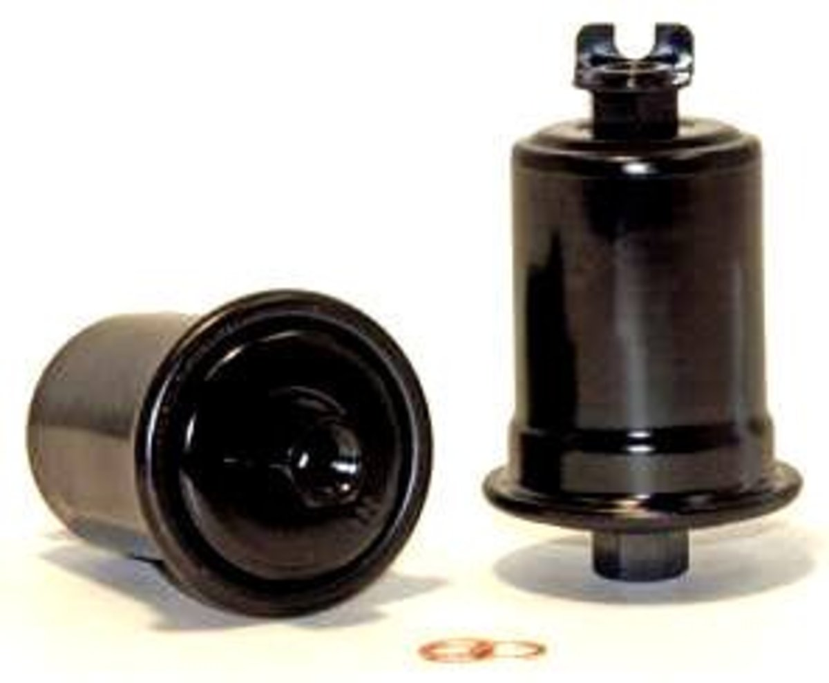 Toyota Camry 5sfe Fuel Filter Side And Top View Of A Replacement Without The Bracket