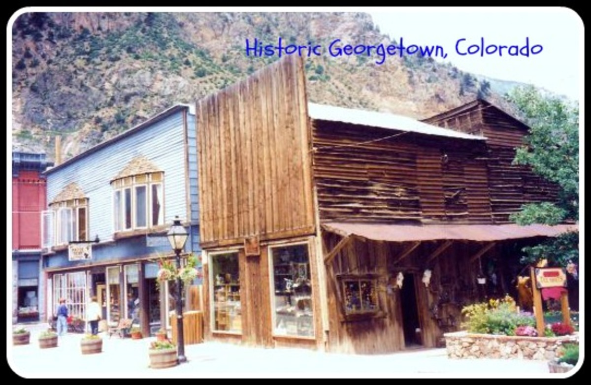 Pictures of Historic Georgetown Buildings in Colorado - Famous Silver Mines Town