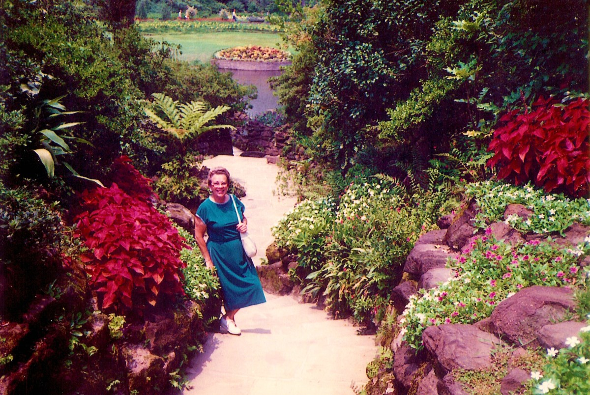 Photo of my Mother at Bellingrath Gardens