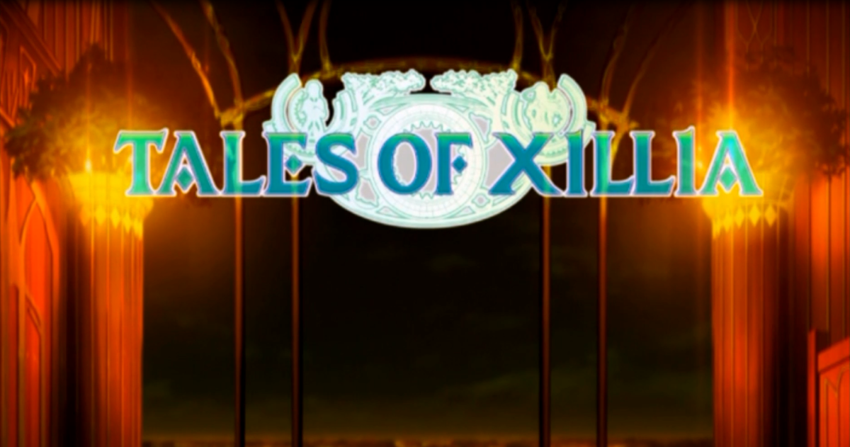 """The Tales of Xillia"" logo, as seen during Jude's opening."