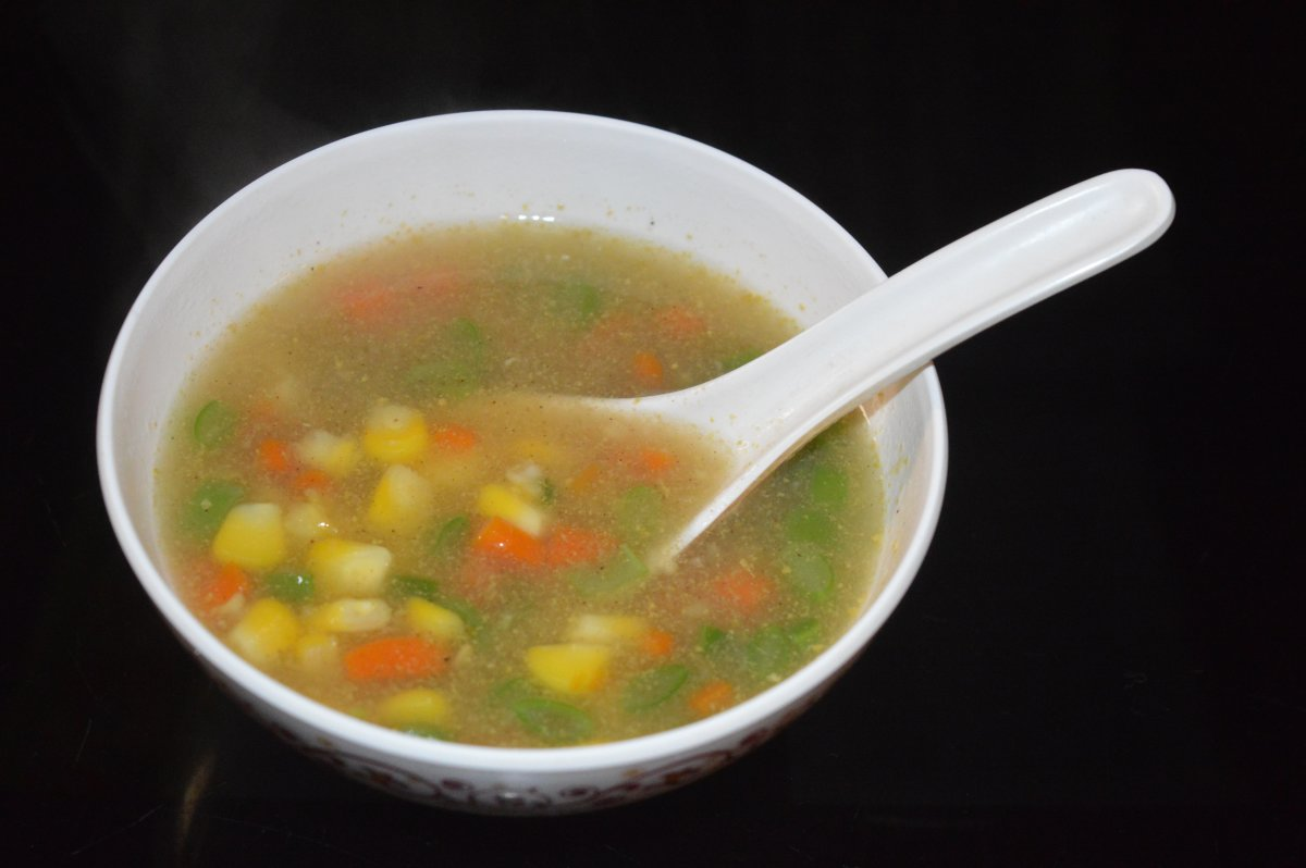 Restaurant-Style Sweet Corn Vegetable Soup
