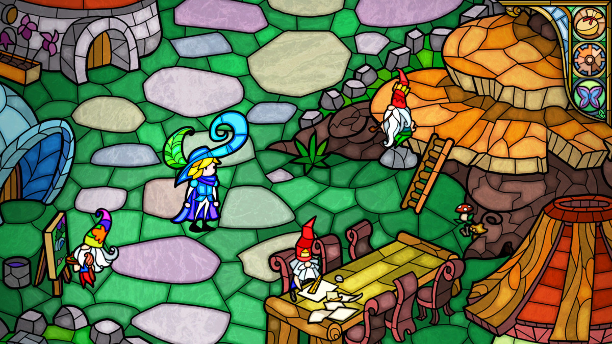 Explore the gnome village in Little Briar Rose.