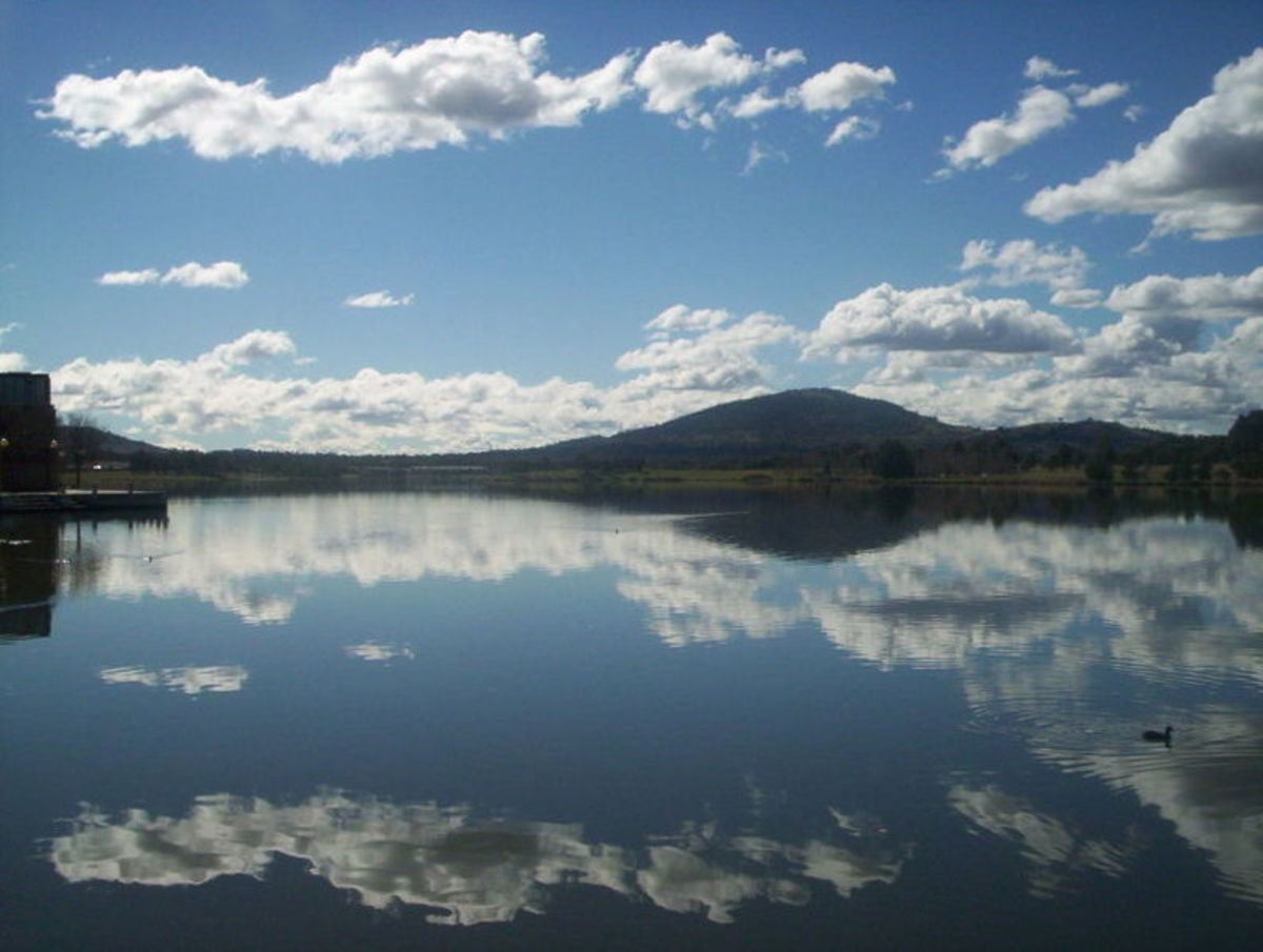 Lake Tuggeranong in Canberra.