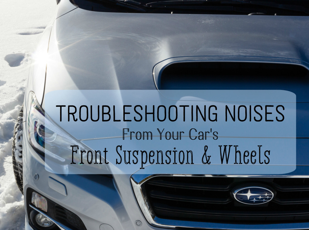 Leave a comment below for specific advice about what might be causing noises in your front suspension.