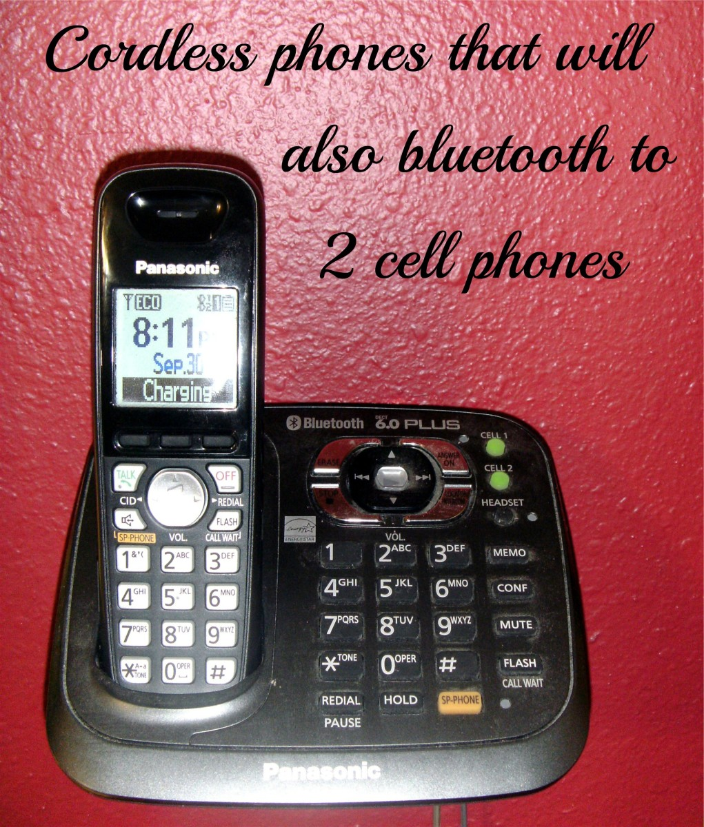 A nifty cordless phone home or small business system that will handle 2 cell phones plus a landline if desired.
