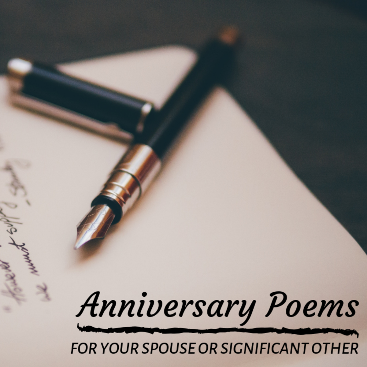 Composing an original poem or sharing an existing piece of prose you connect with is a great way to express your love on your anniversary.