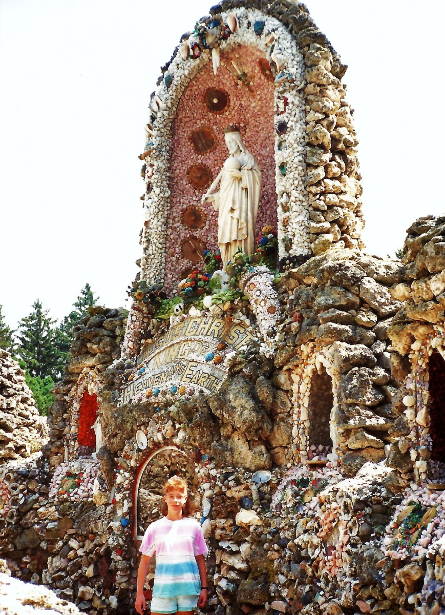 The ornate Dickeyville Grotto in Wisconsin