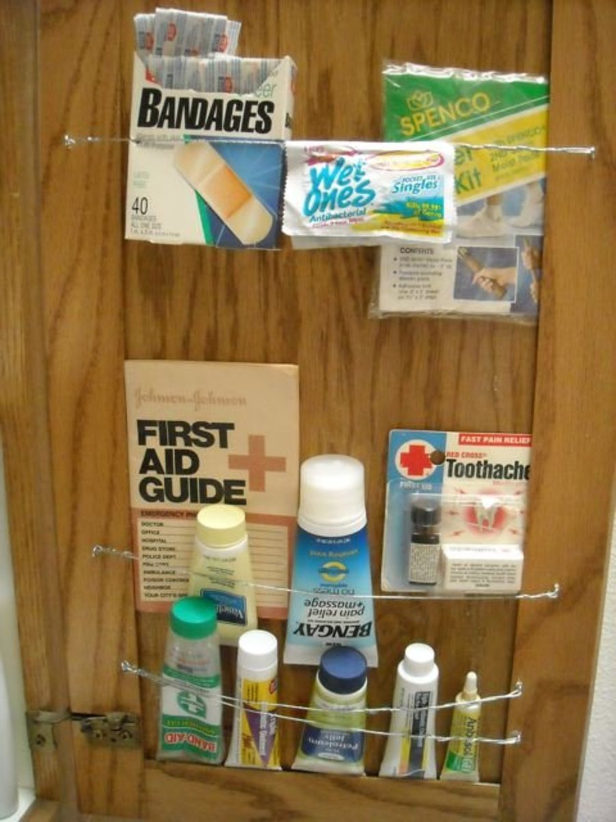 Need to find the band-aids and antiseptic quick? They're in plain sight.
