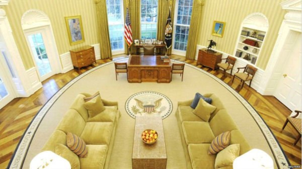 The new obama oval office makeover and d cor in the white Oval office decor by president