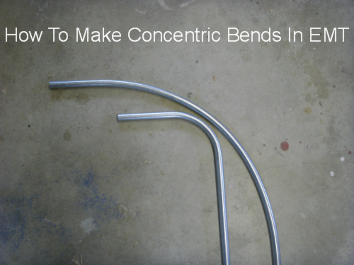 EMT Electrical Conduit Pipe Bending Instructions For Making Concentric Bends