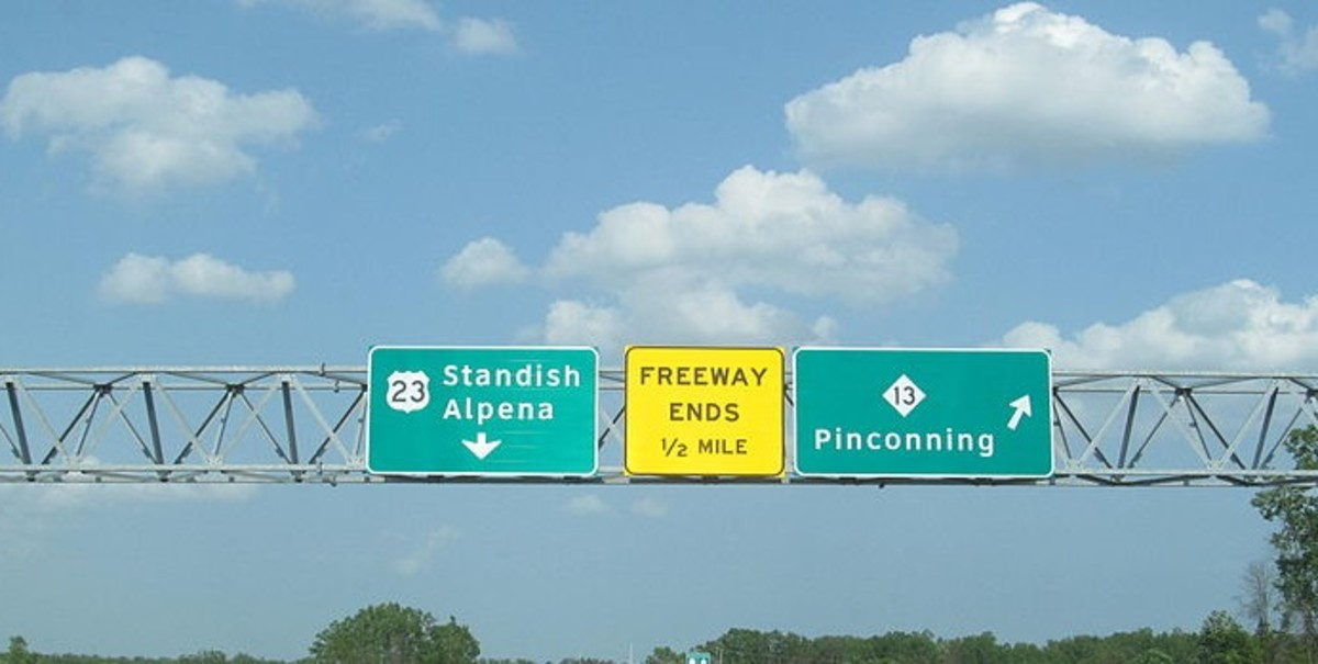 I love to see these signs on my frequent trips around Lake Huron on Old Route 23.