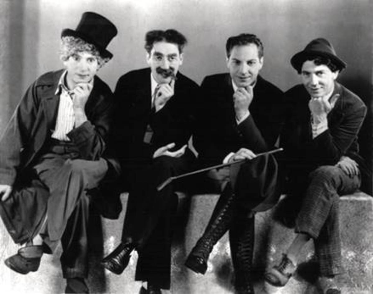 The Marx Brothers: (Left to Right) Harpo, Groucho, Zeppo and Chico
