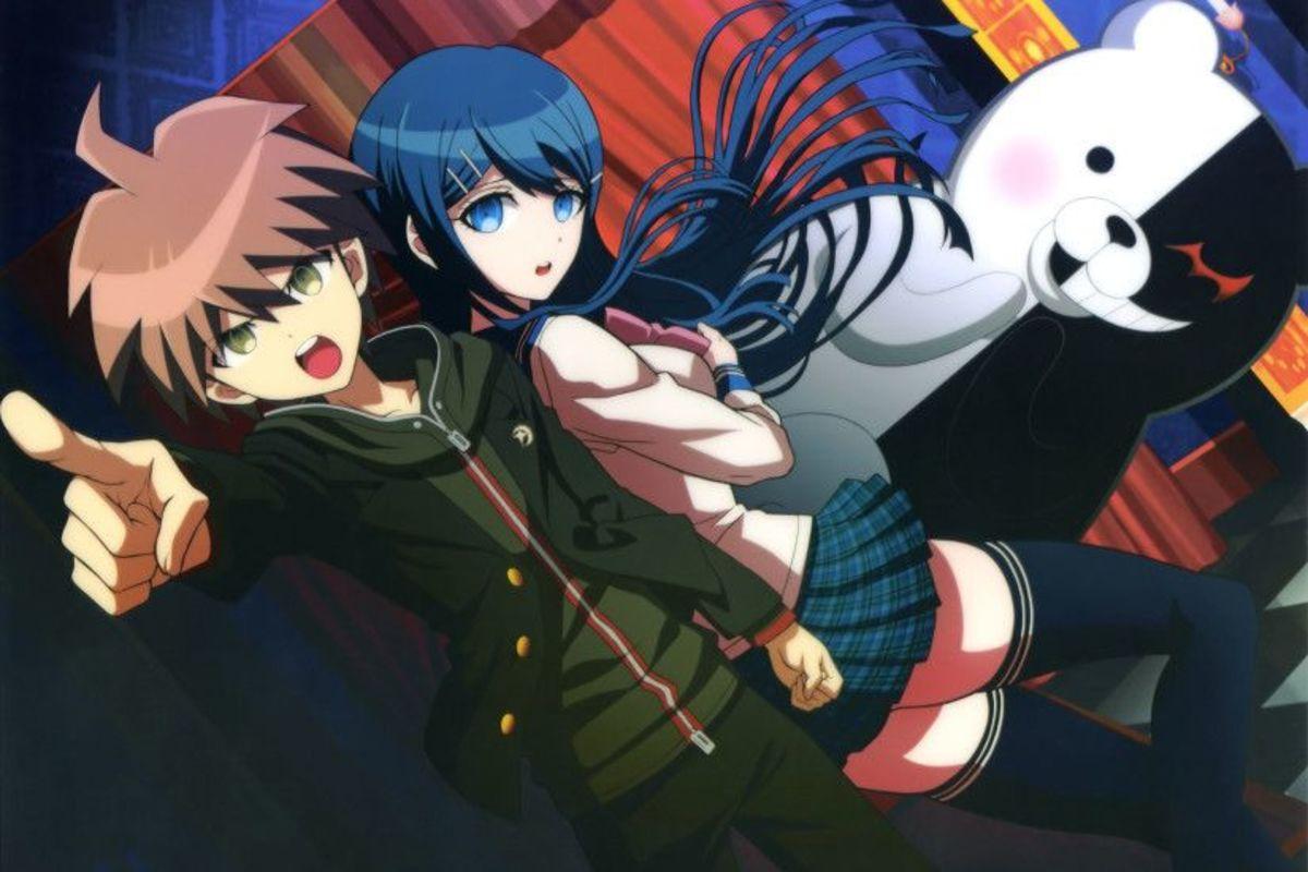 Makoto, Sayaka, and Monokuma