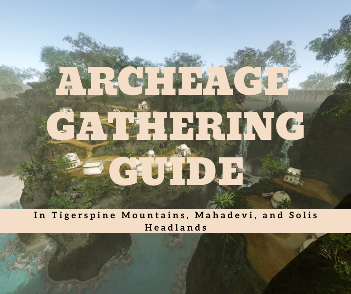 """""""Archeage"""": A Gathering Guide for Tigerspine Mountains, Mahadevi, and Solis Headlands"""