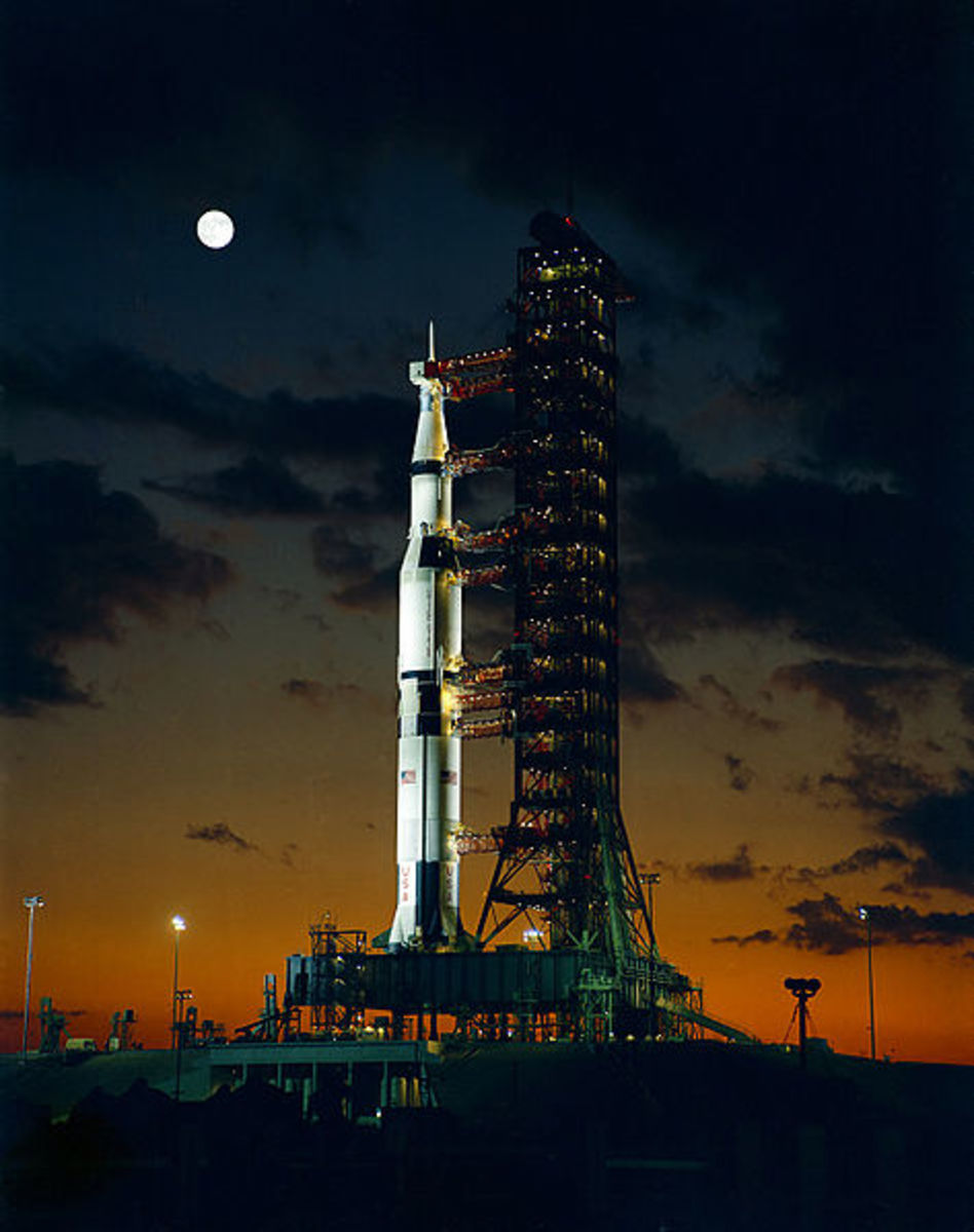 Apollo 4 Saturn V night launch. Will living in space reduce high blood pressure?
