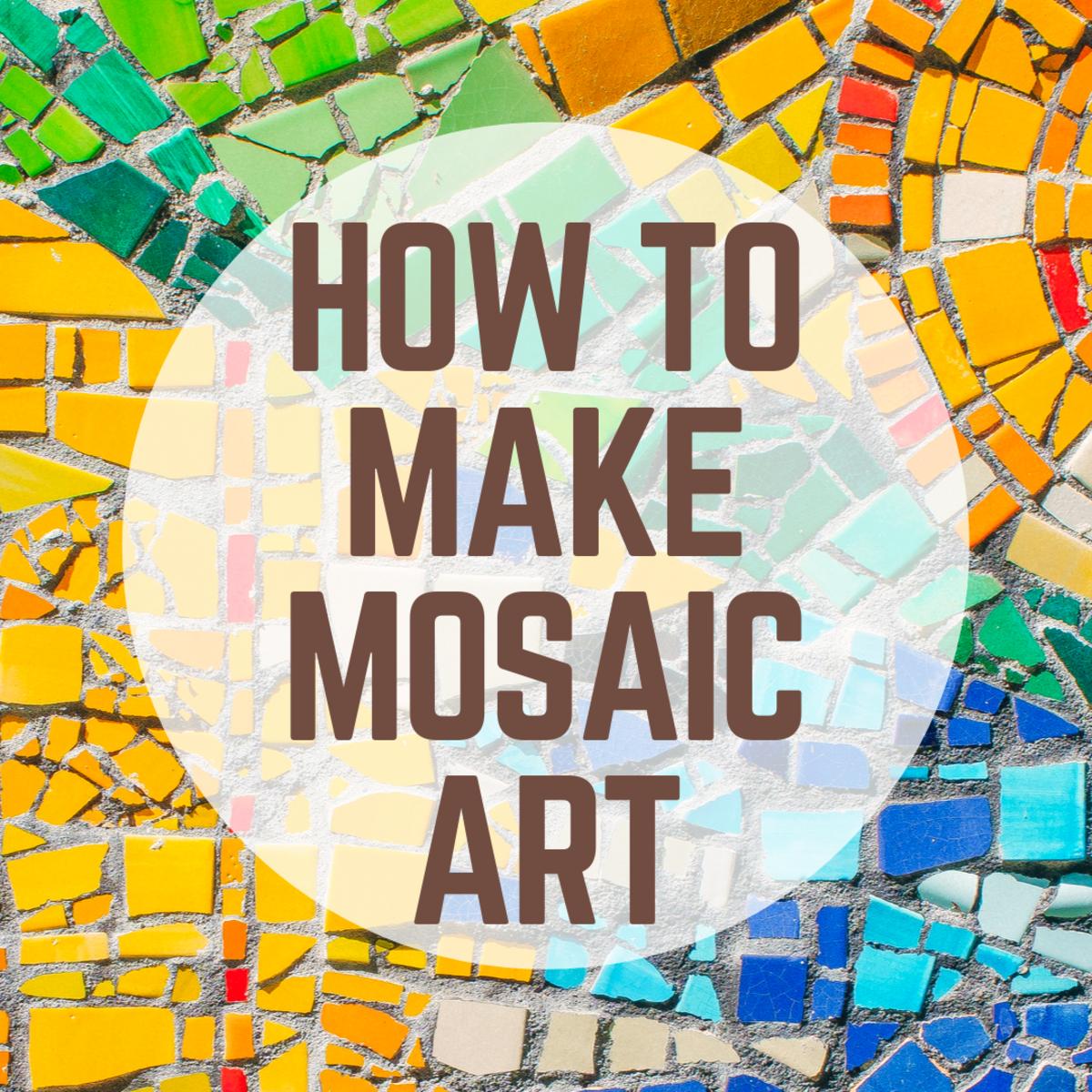Mini Ceramic Mosaic Shape Tiles Dusty Blue by Hobby Island Mosaics