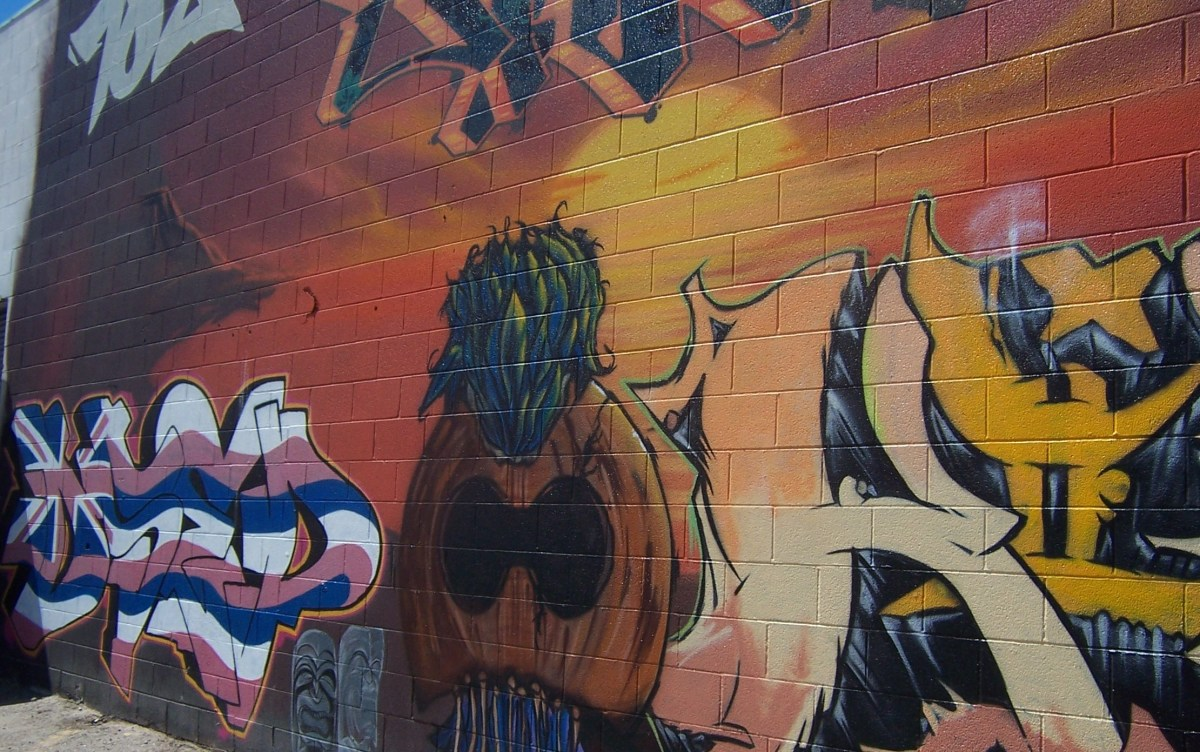 Graffiti Art in the Arts District in Downtown Las Vegas (c) Copyright KCC Big Country