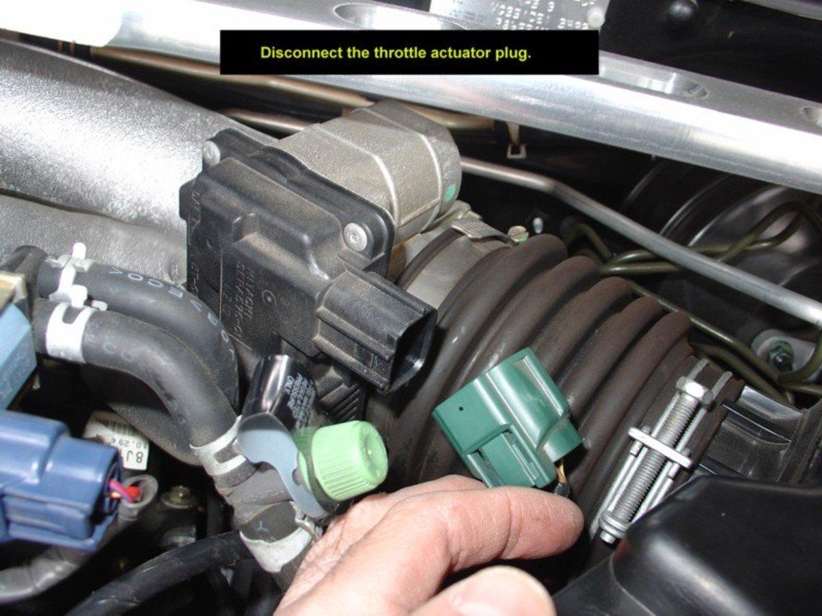 Nissan Altima throttle actuator plug