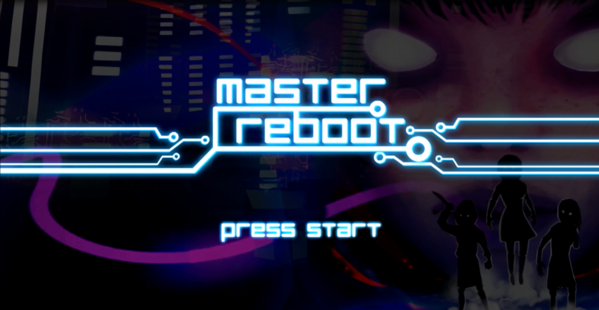 "The title screen of ""Master Reboot."""