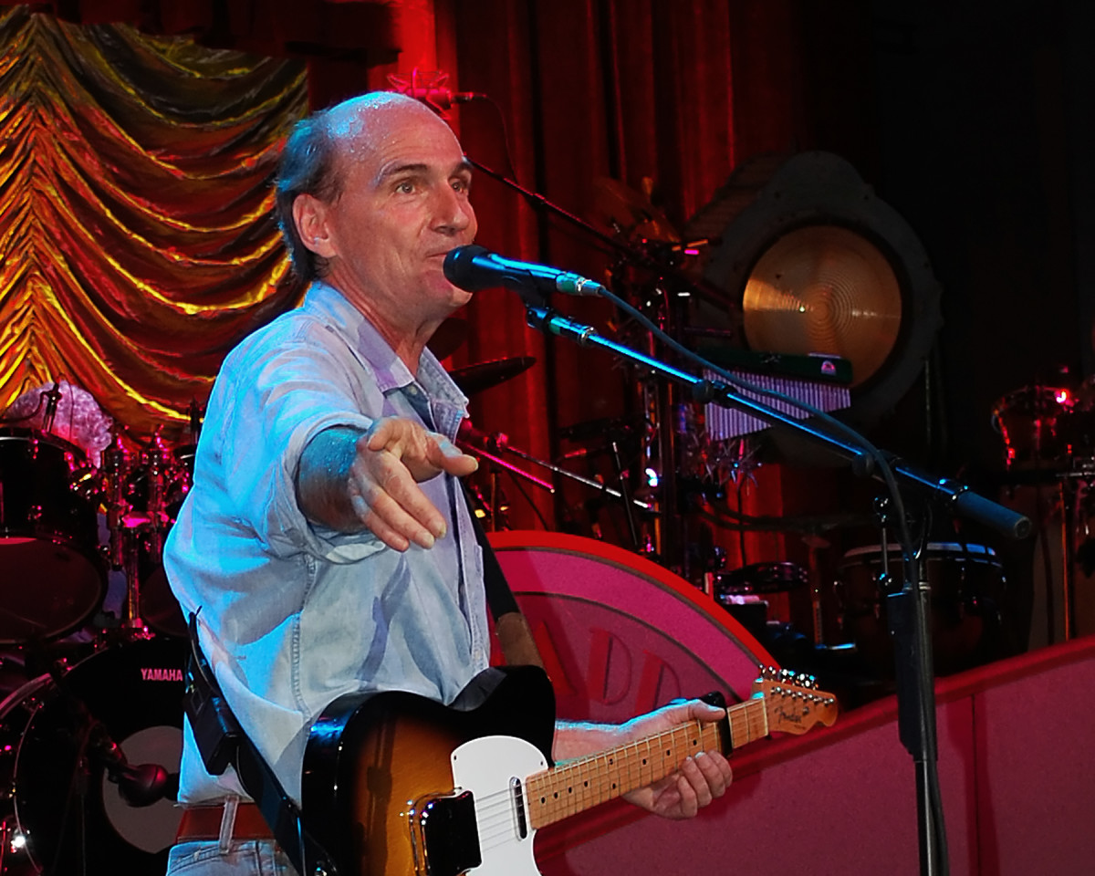 James Taylor performing at Tanglewood