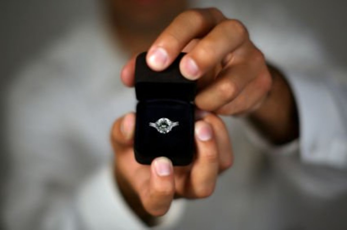 "The four little words that will change everything: ""Will you marry me?""."