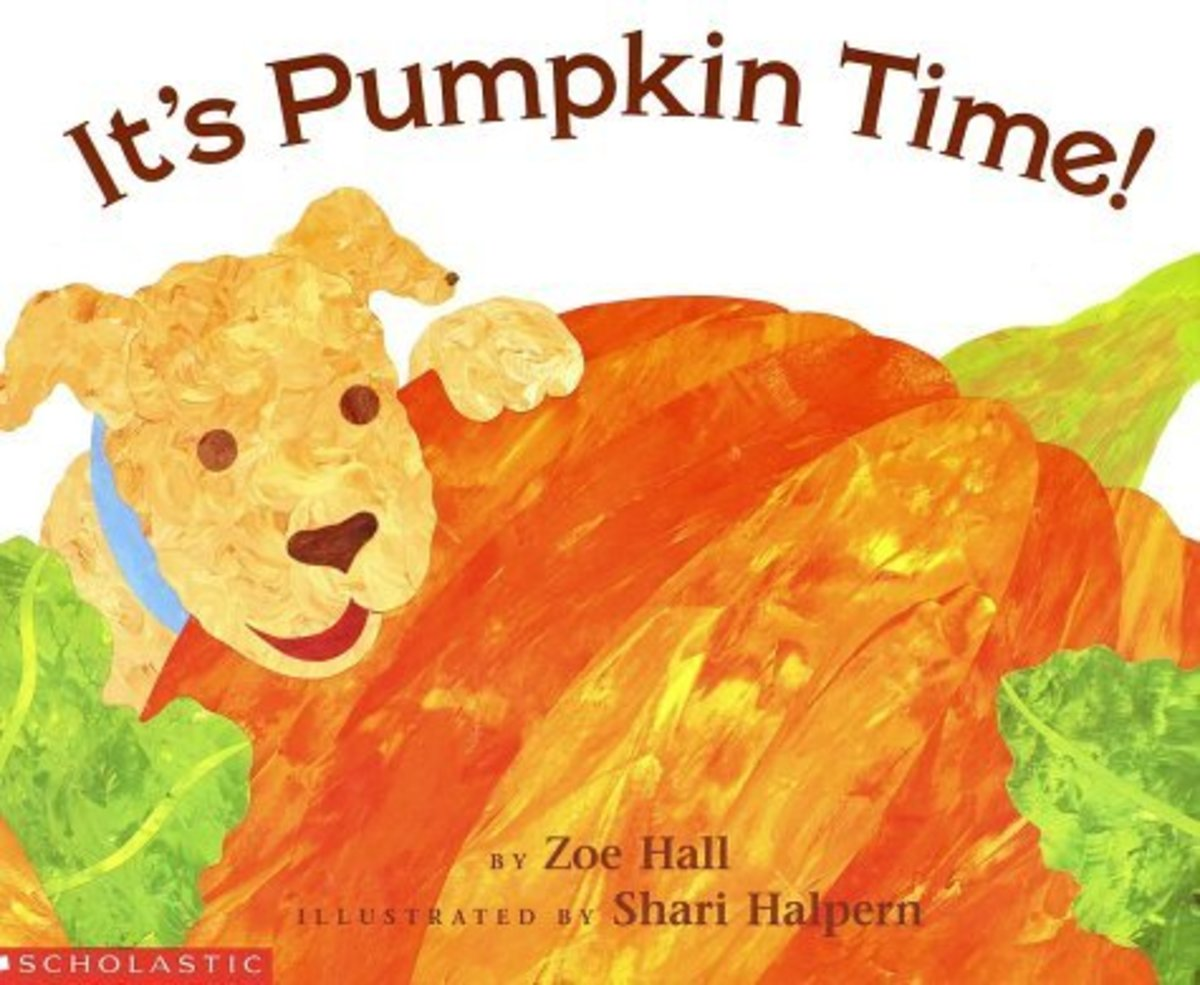 It's Pumpkin Time by Zoe Hall and illustrated by Shari Halpern