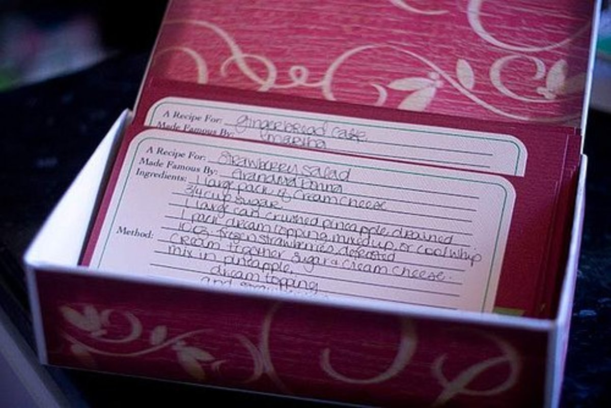 Recipe Received from Aunt Jane