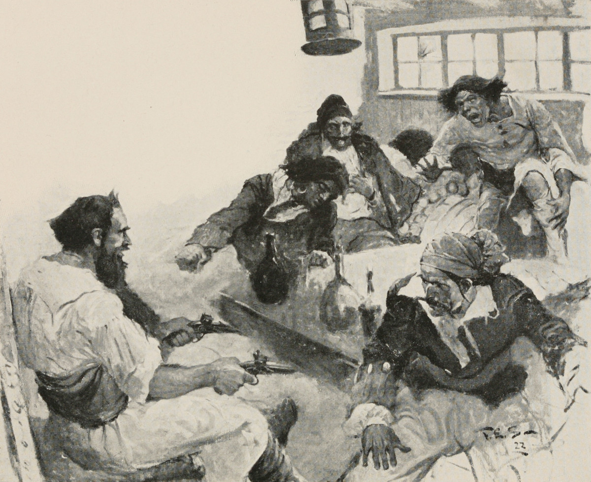 Blackbeard often threw wild parties, where there was a lot of fighting, dancing, card playing, and an occassional brawl.