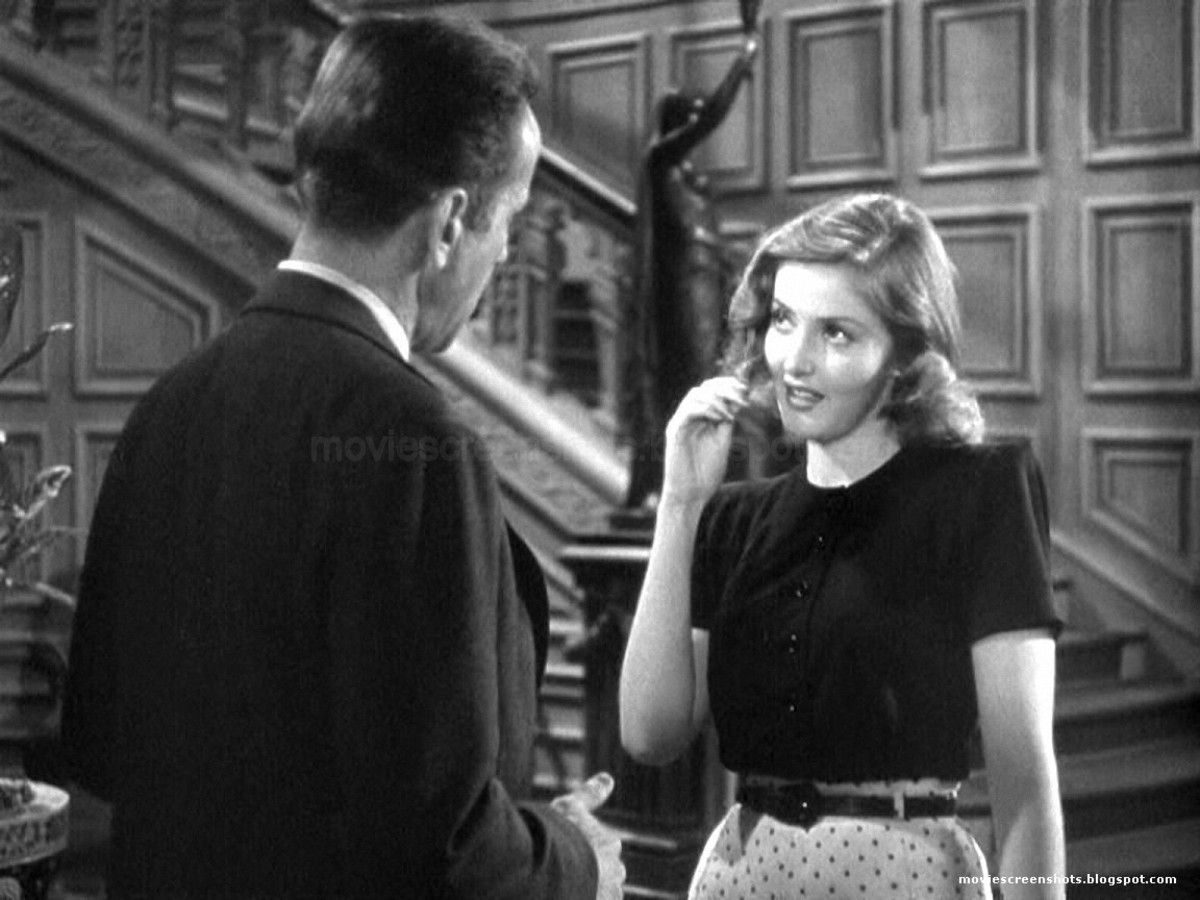 Humphrey Bogart and Martha Vickers meet up in the Sternwood mansion