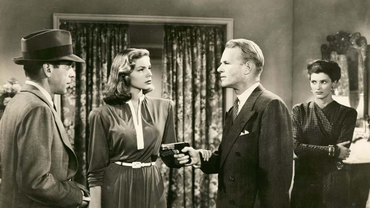 Humphrey Bogart, Lauren Bacall, Louis Jean Heydt and Sonia Darrin