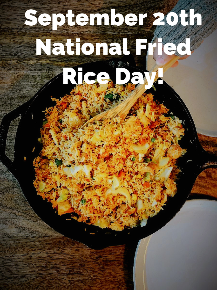 Yummy! My favorite comfort food to make at home is fried rice. It's simple and easy. Happy National Fried Rice Day!