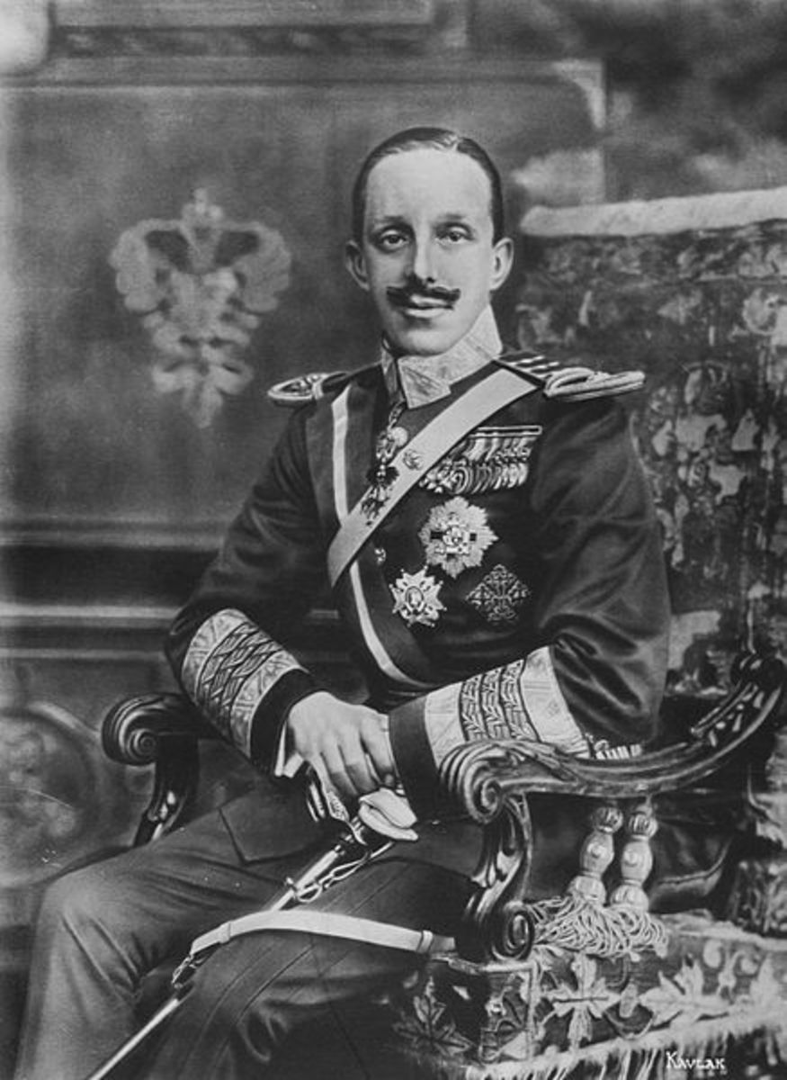 King Alfonso XIII of Spain.