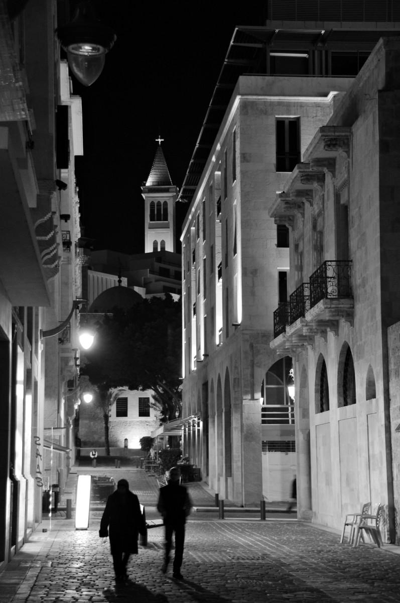 Downtown Beirut at night - Lebanon