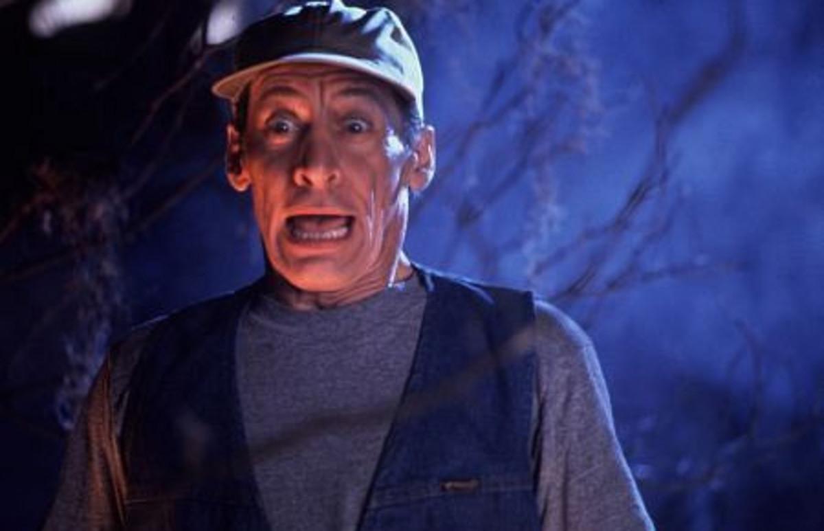 """Jim Varney as Earnest P. Worrell in """"Earnest Scared Stupid"""" (1991)"""
