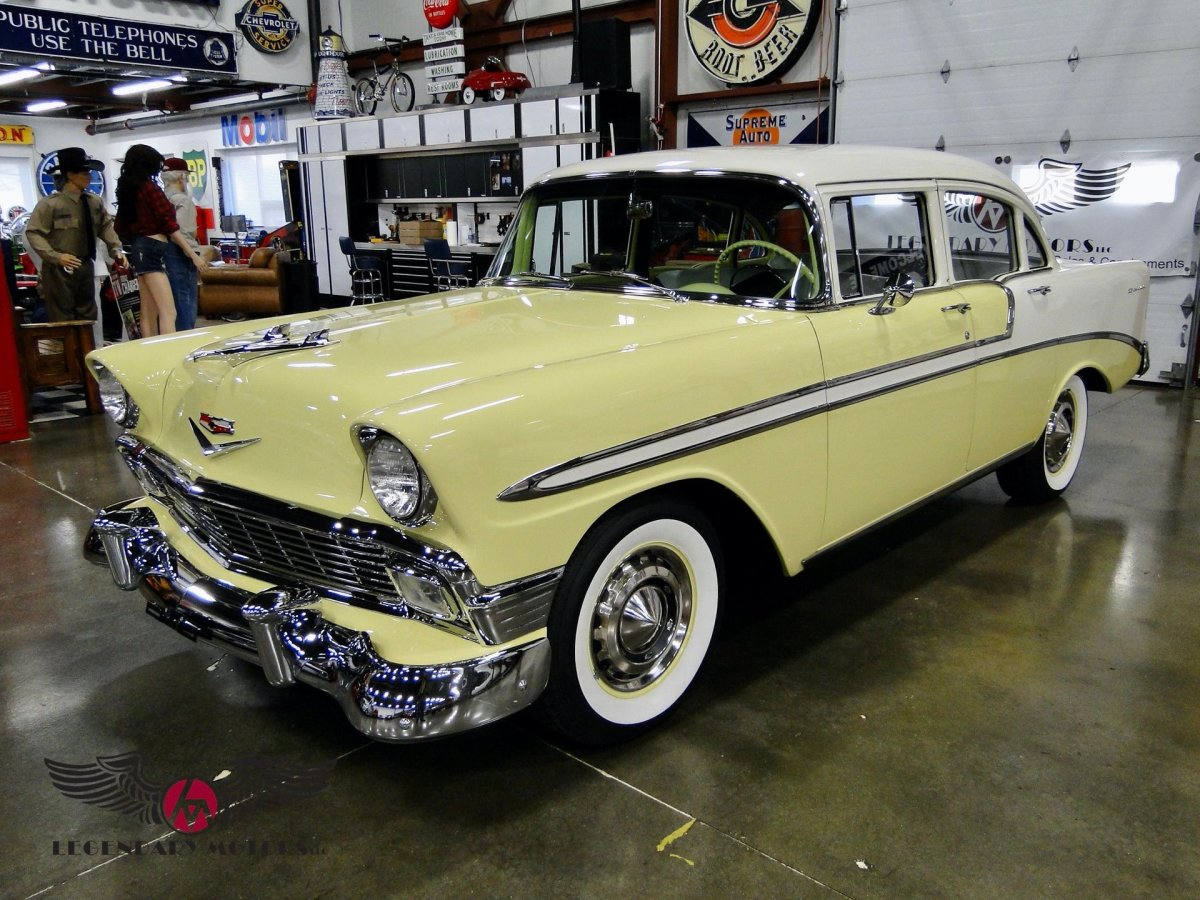The 1956 Chevrolet was America's best-selling car.