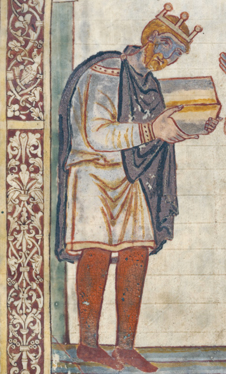 Aethelstan, King of the English from Bede's Life of St. Cuthbert.