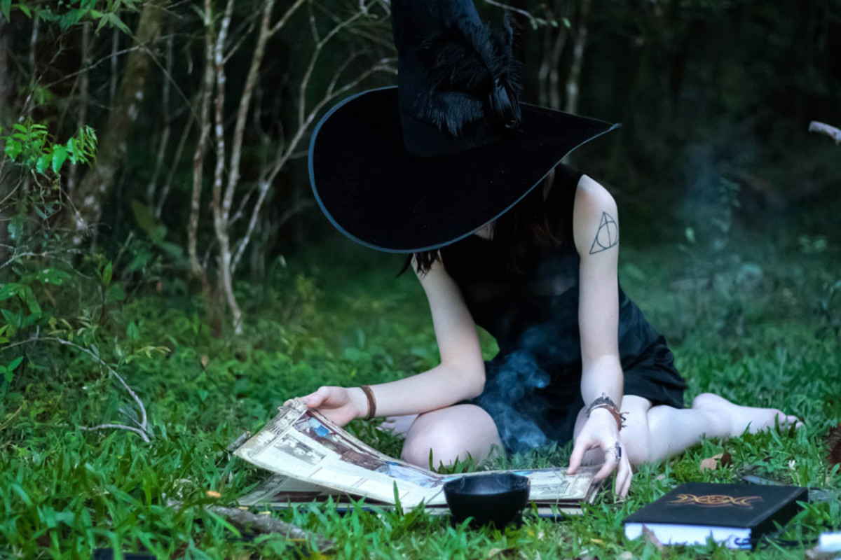 Witch Reading Spellbook