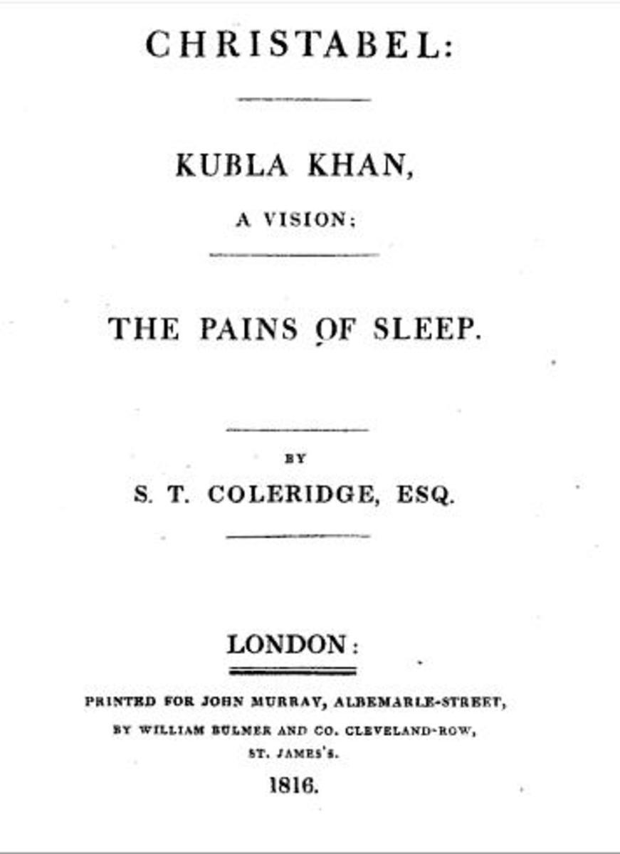 Titlepage of 'Kubla Khan', 1816.
