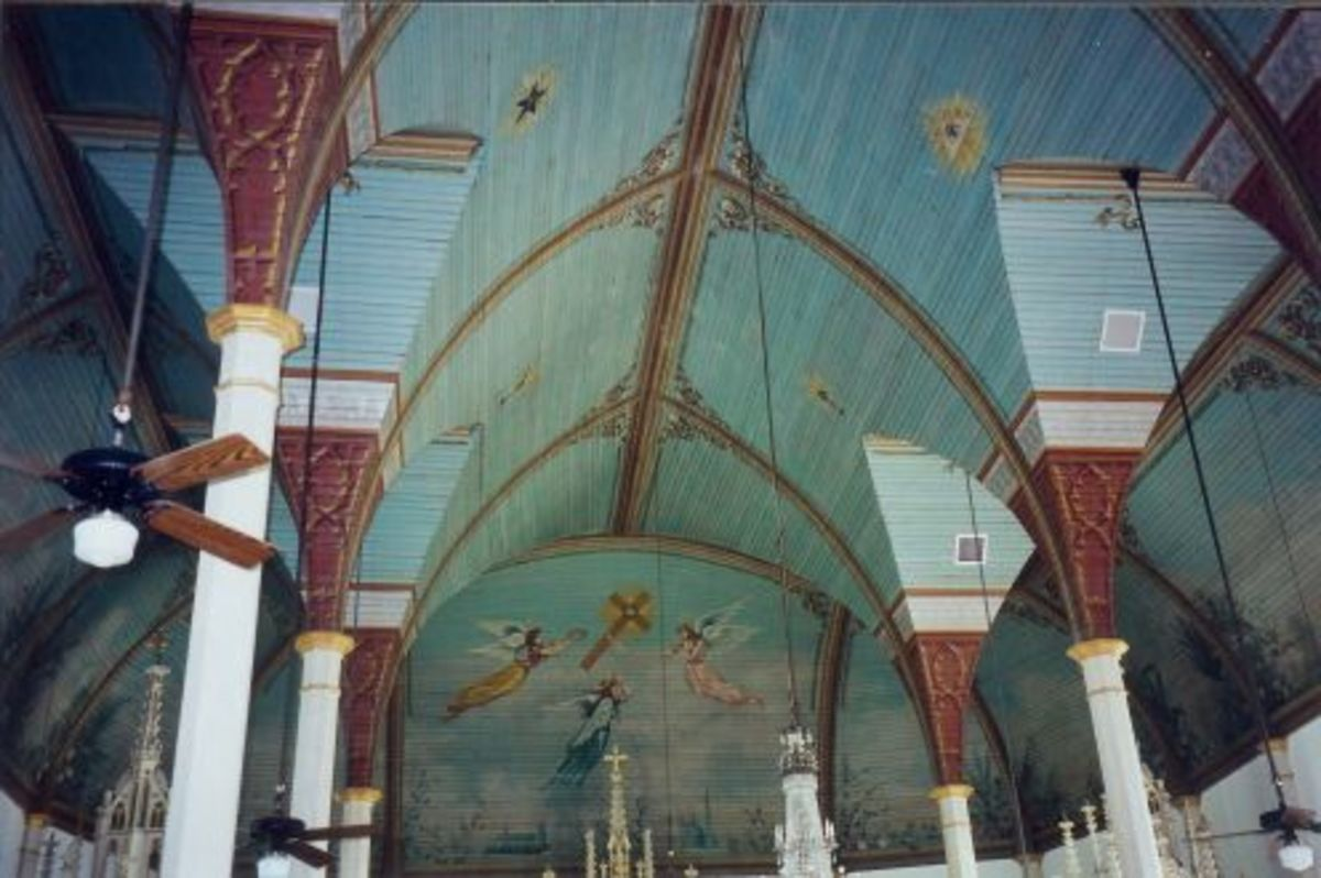 """""""Stop and visit the inside of """"St. Mary's""""...and see all the intricate art that it displays."""""""