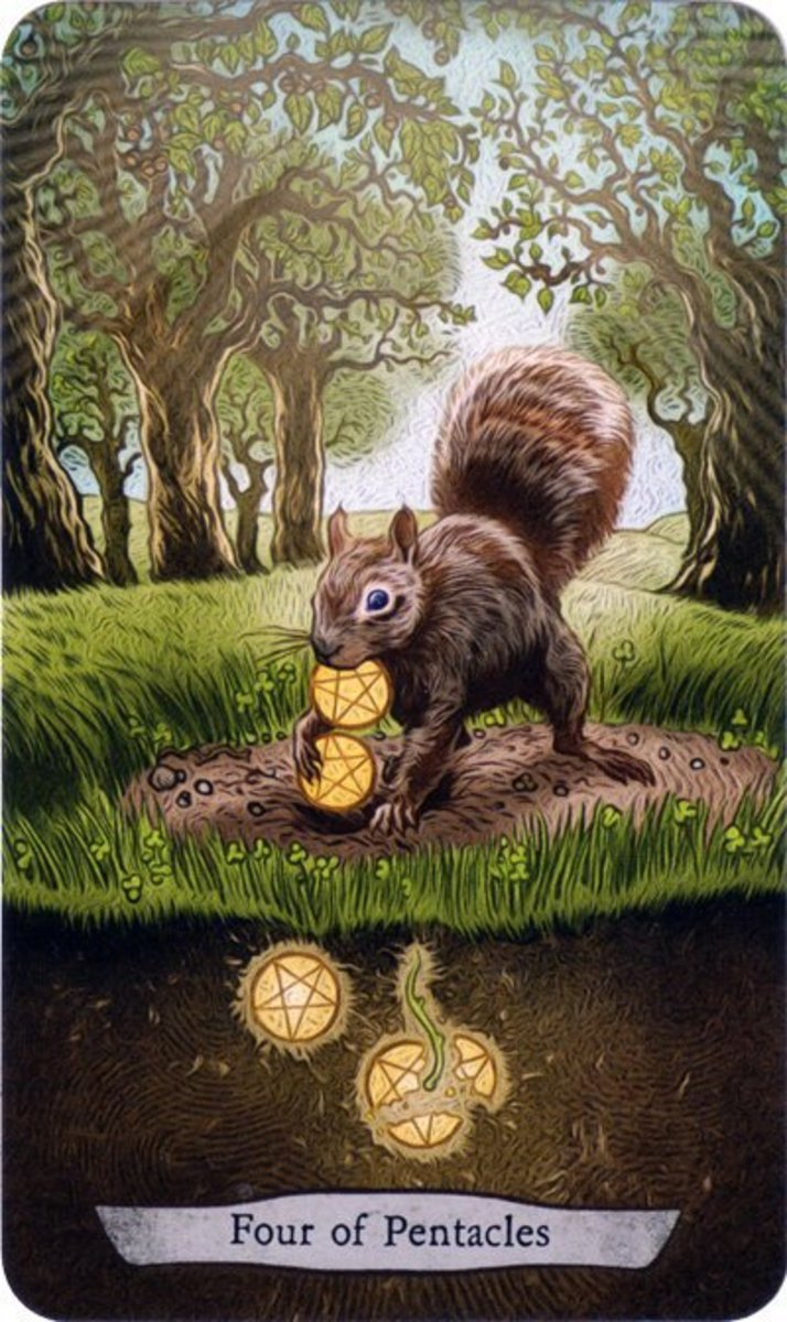 The Reversed Four of Pentacles shows you have a desire to let go of your money. You may have a problem with splurging. You may also be realigning your values. You might be breaking your toxic relationship with money.