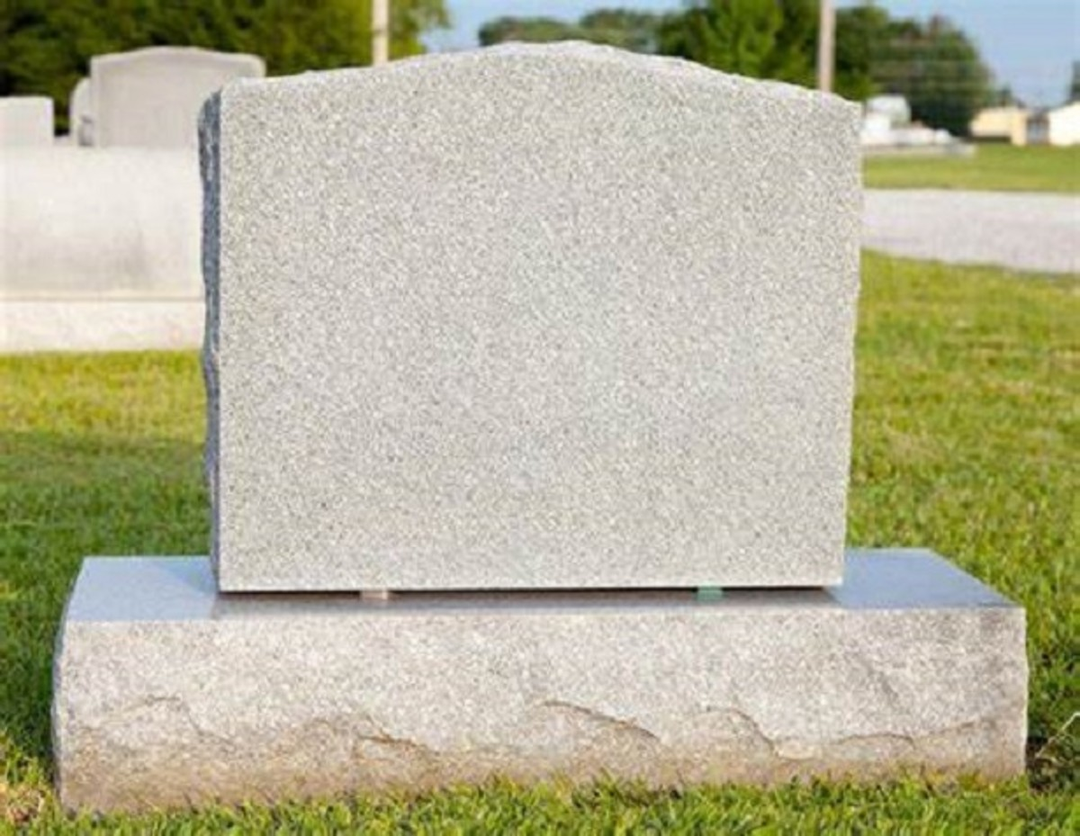 Blank Tombstone. Close-up of a blank tombstone with copy ...
