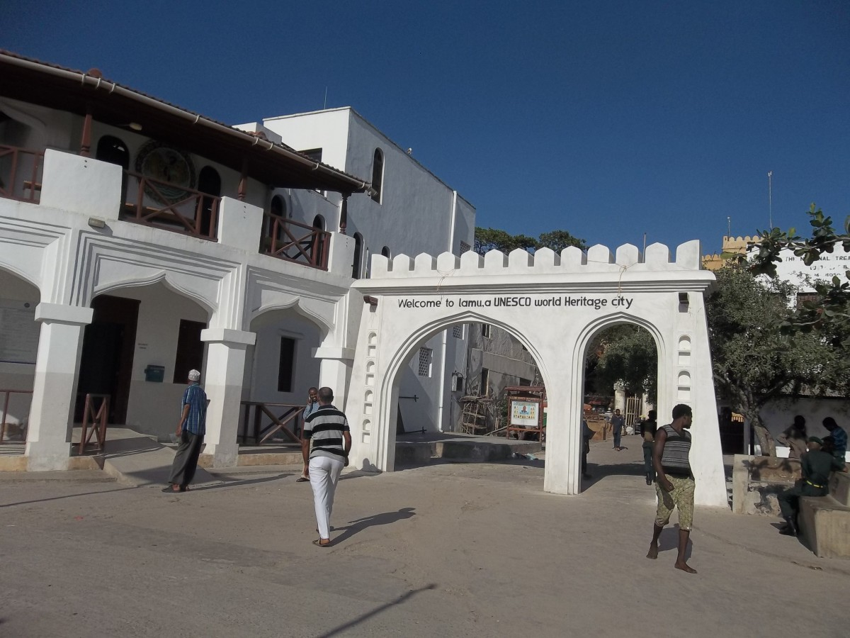 Entrance to the town square