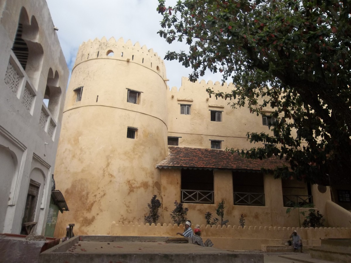 The left wing of the Lamu fort