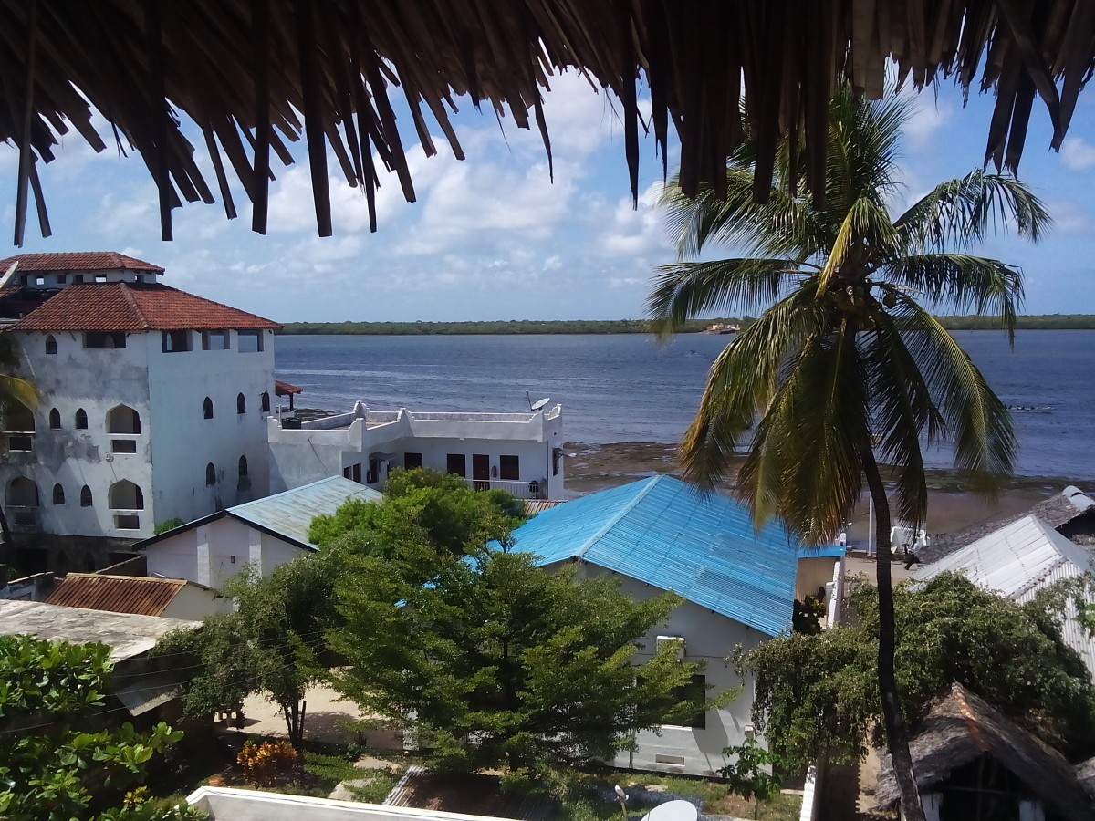 A view of the ocean from a hotel window