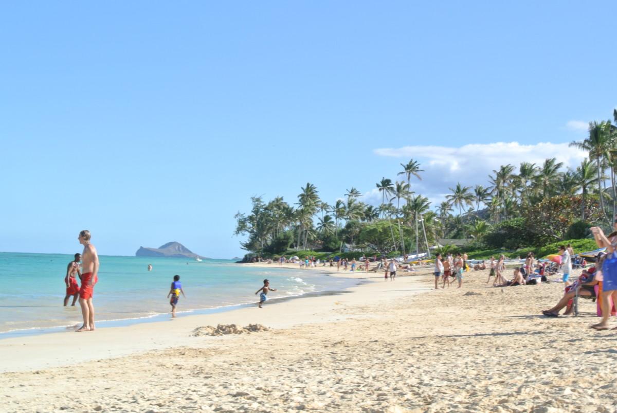 Beautiful Lanikai Beach near Kailua, Oahu, Hawaii