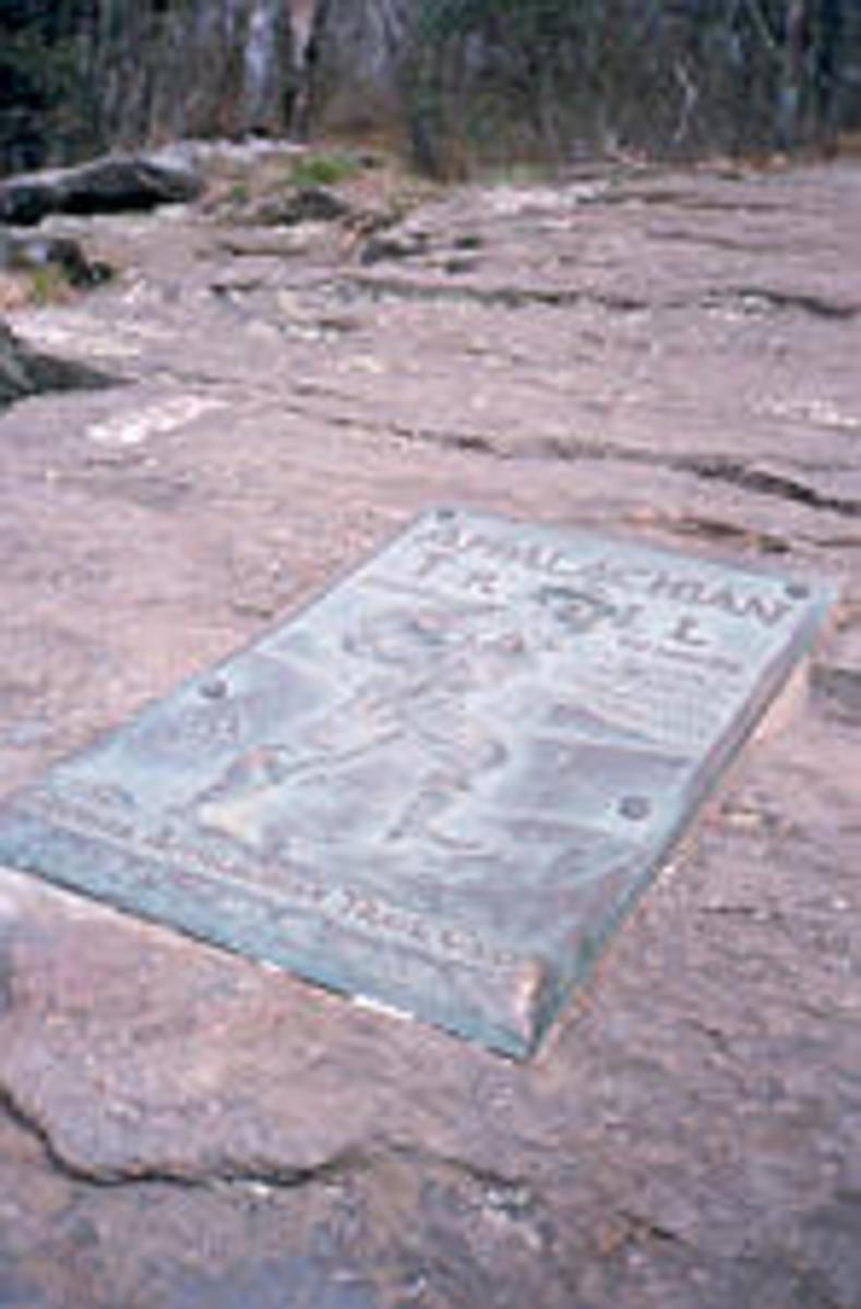The southern terminus of the Appalachian Trail on Springer Mountain, Georgia