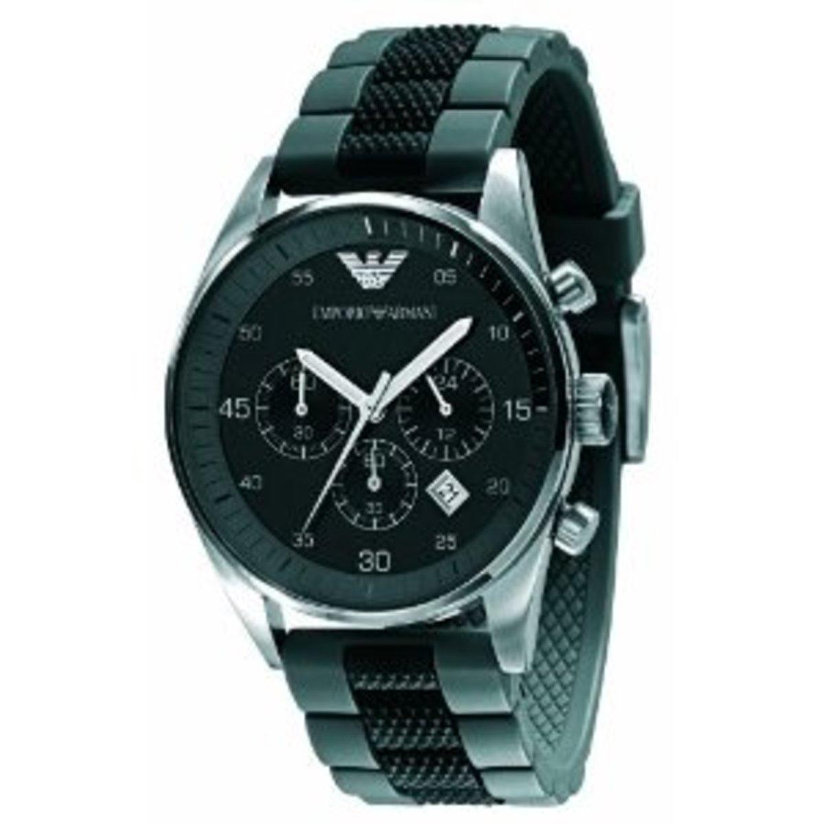 Armani Men's AR5866 Black Chronograph Dial Watch